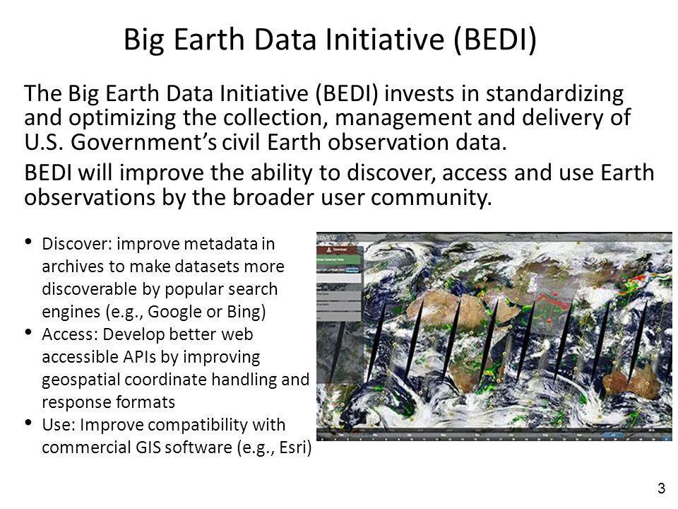 Big Earth Data Initiative (BEDI)