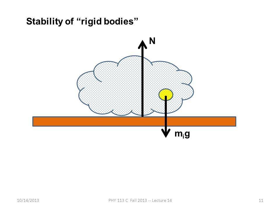 Stability of rigid bodies
