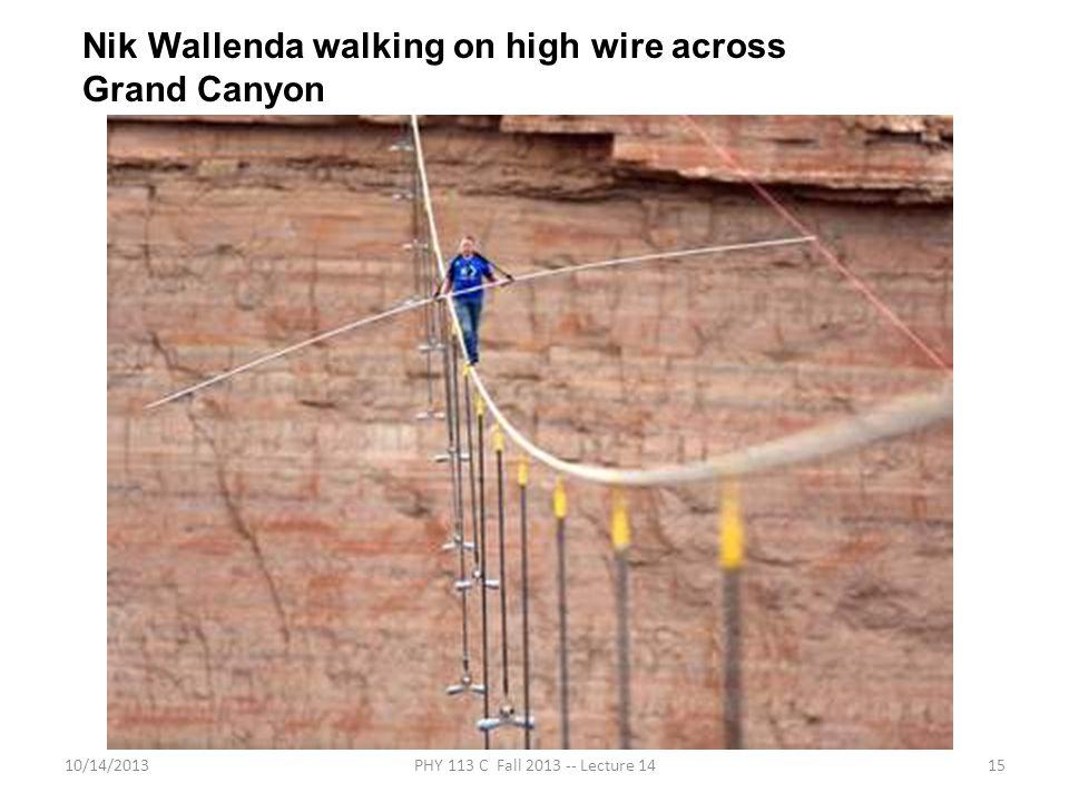 Nik Wallenda walking on high wire across Grand Canyon