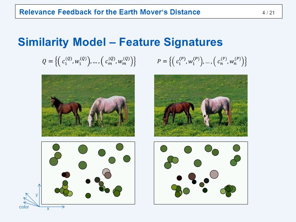 Similarity Model – Earth Mover's Distance
