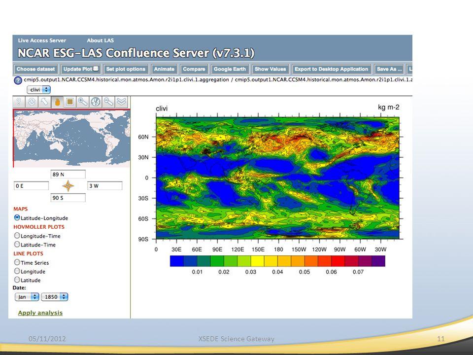 Demo 05/11/2012 XSEDE Science Gateway