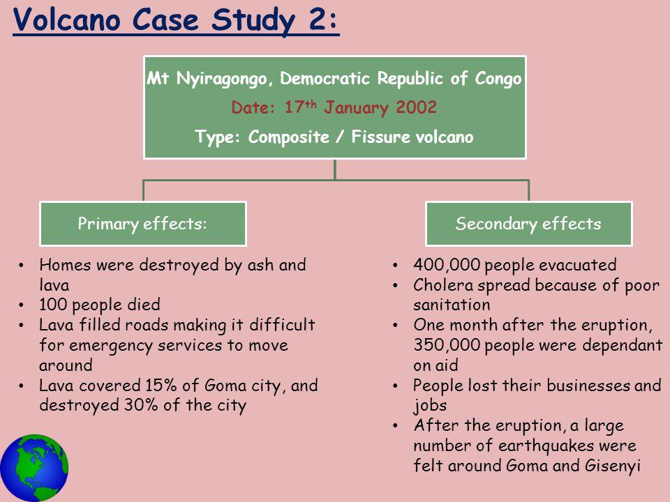 Volcano Case Study 2: Mt Nyiragongo, Democratic Republic of Congo
