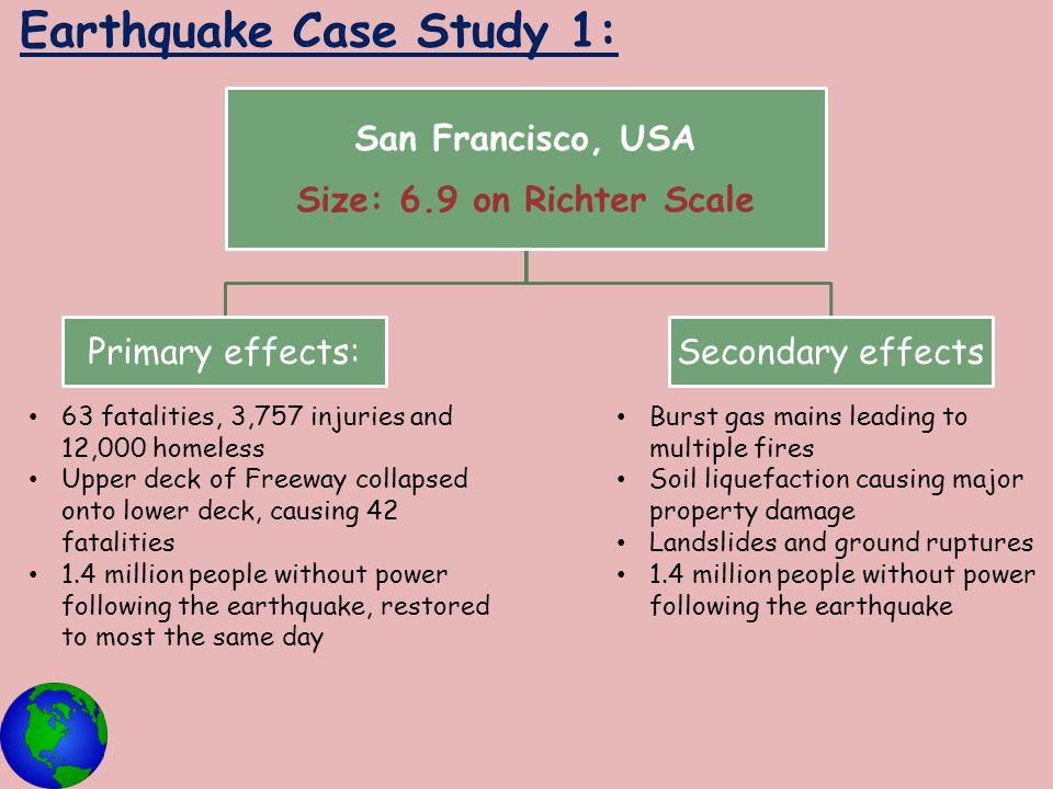 Earthquake Case Study 1: