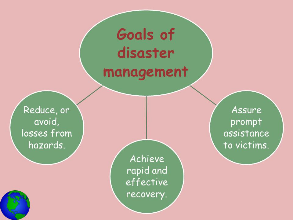 Goals of disaster management
