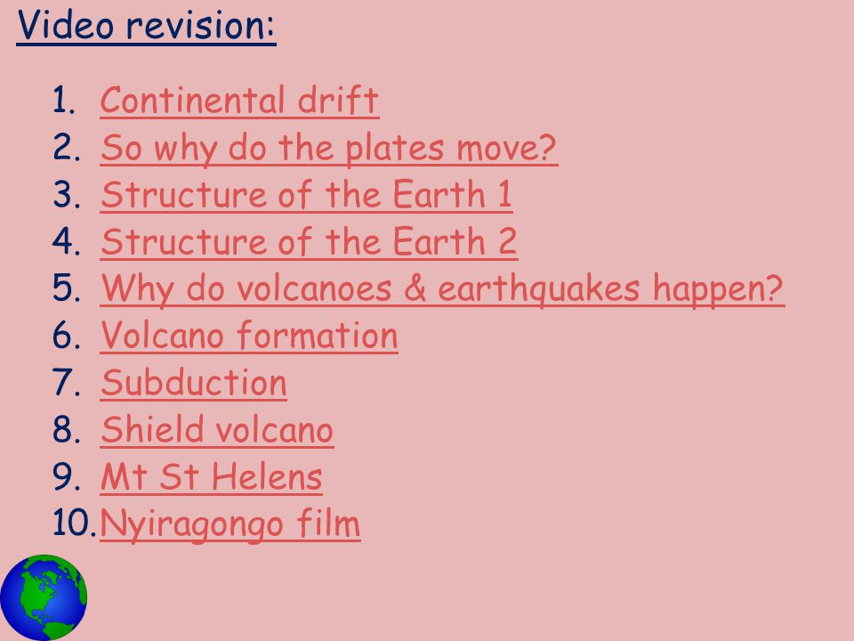 Video revision: Continental drift So why do the plates move
