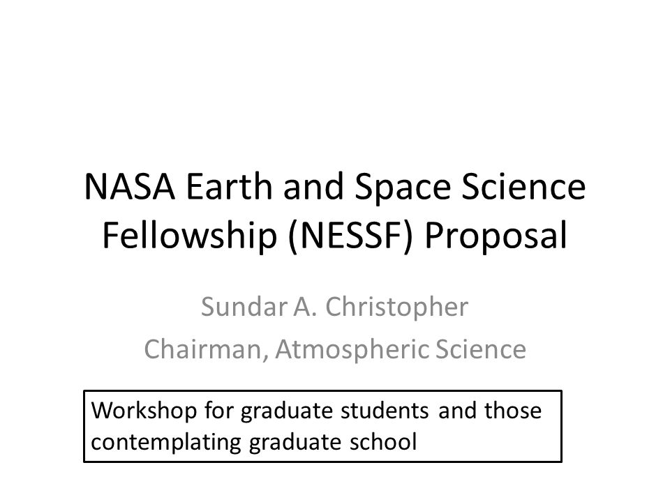 NASA Earth and Space Science Fellowship (NESSF) Proposal