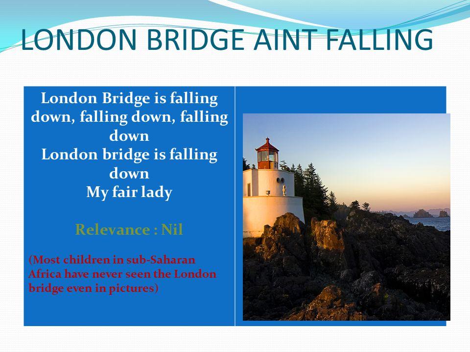 LONDON BRIDGE AINT FALLING