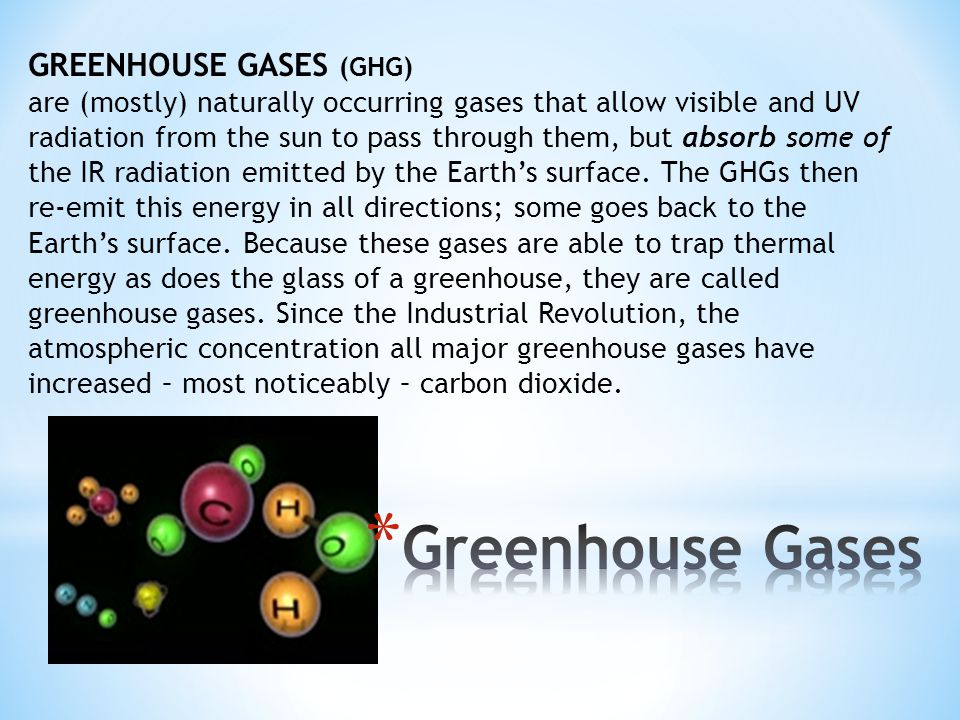 Greenhouse Gases GREENHOUSE GASES (GHG)