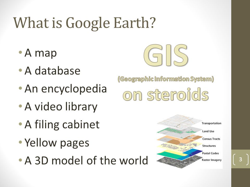 (Geographic Information System) on steroids