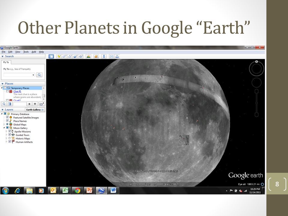 Other Planets in Google Earth