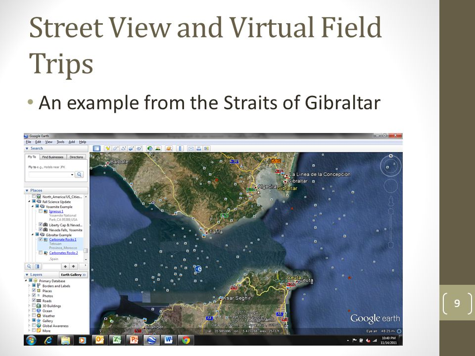Street View and Virtual Field Trips