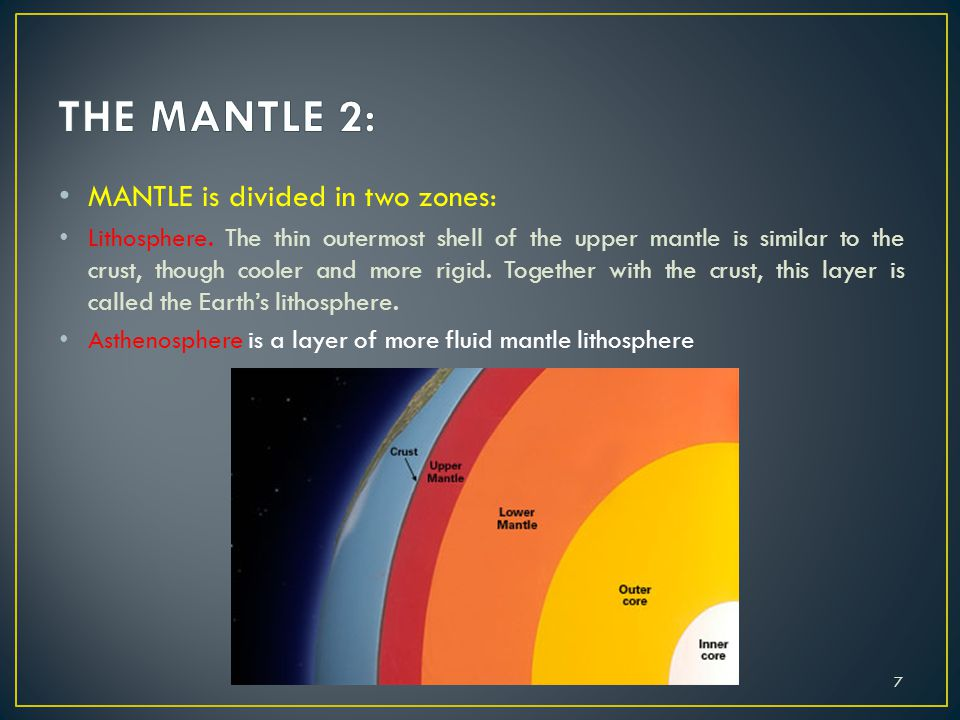 THE MANTLE 2: MANTLE is divided in two zones: