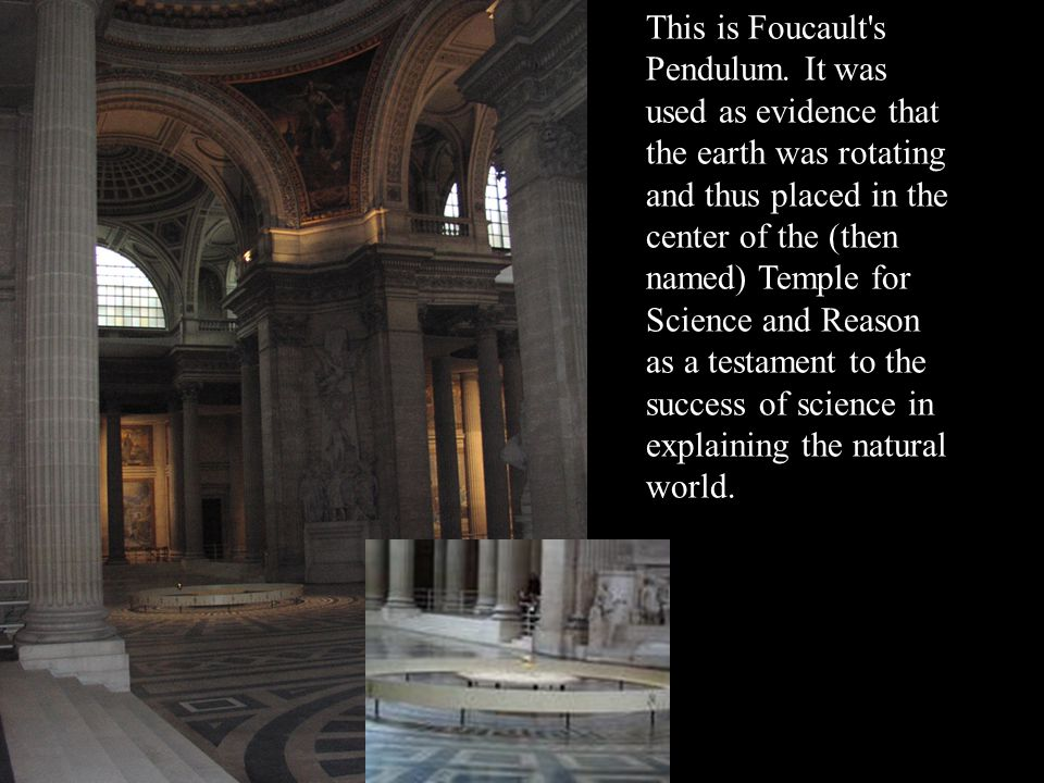 This is Foucault s Pendulum