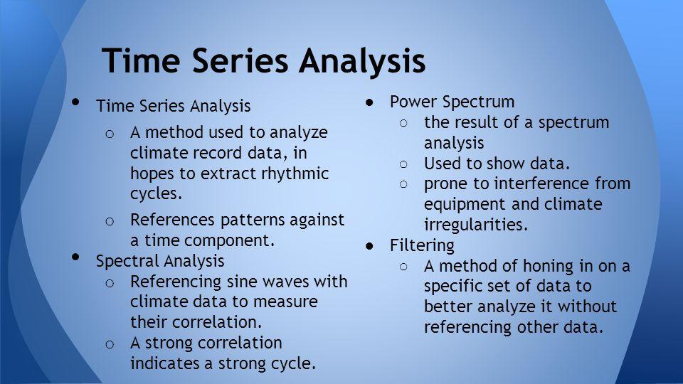 Time Series Analysis Power Spectrum Time Series Analysis