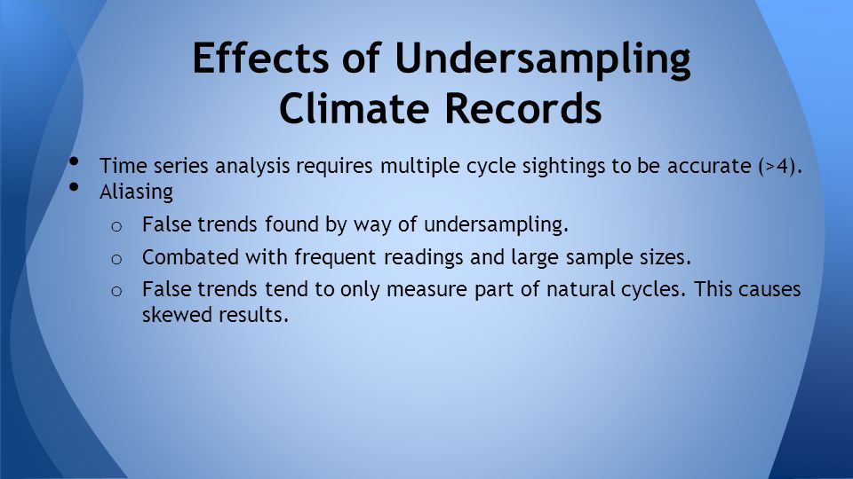 Effects of Undersampling Climate Records