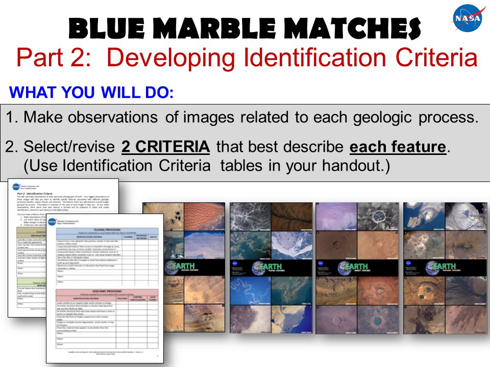 Part 2: Developing Identification Criteria