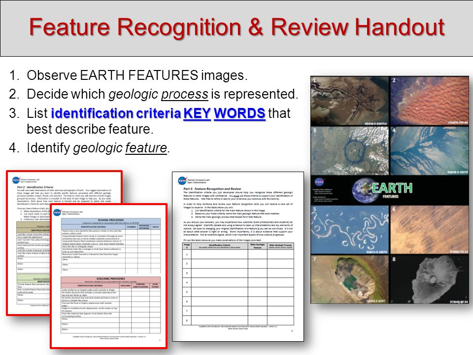 Feature Recognition & Review Handout