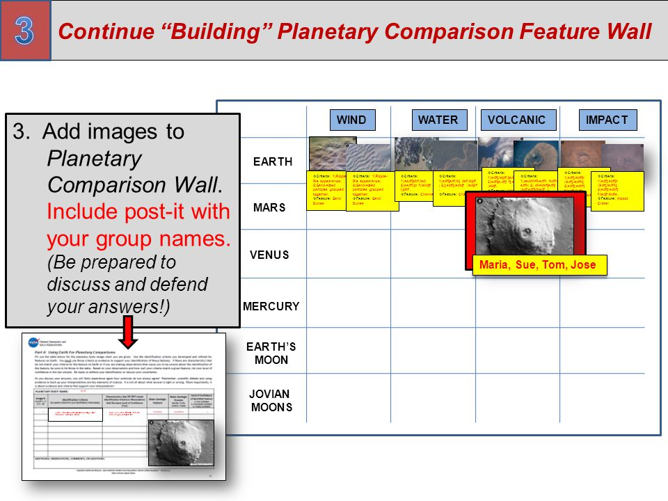 3 Continue Building Planetary Comparison Feature Wall