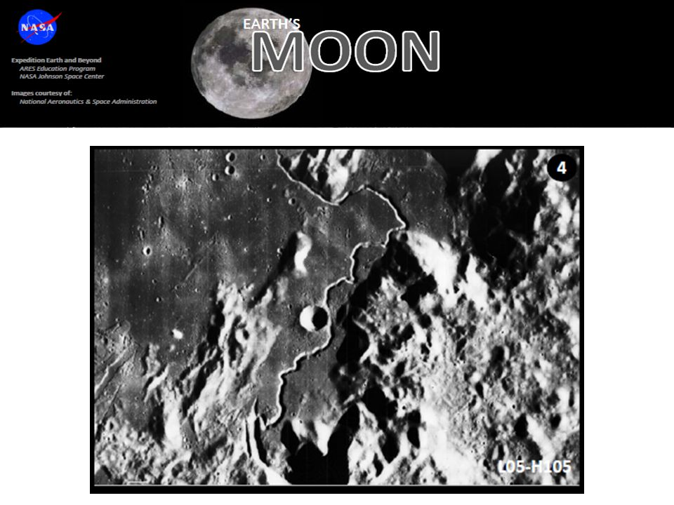 Make sure students realize that even though the feature in this image matches the criteria to be a channel (fluvial feature) on Earth, they must realize that knowledge of the planetary body itself can trump the matching of the criteria. In this case, the Moon has never had water flow across the surface. Ask students what else can flow across the surface of a planetary surface….for example, lava.