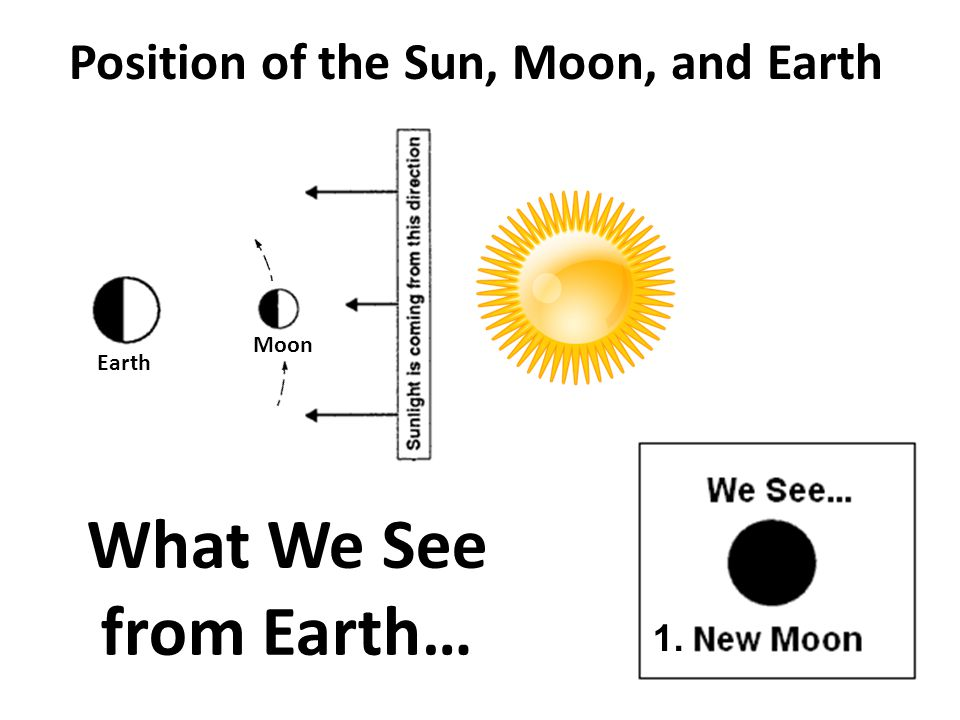 Position of the Sun, Moon, and Earth