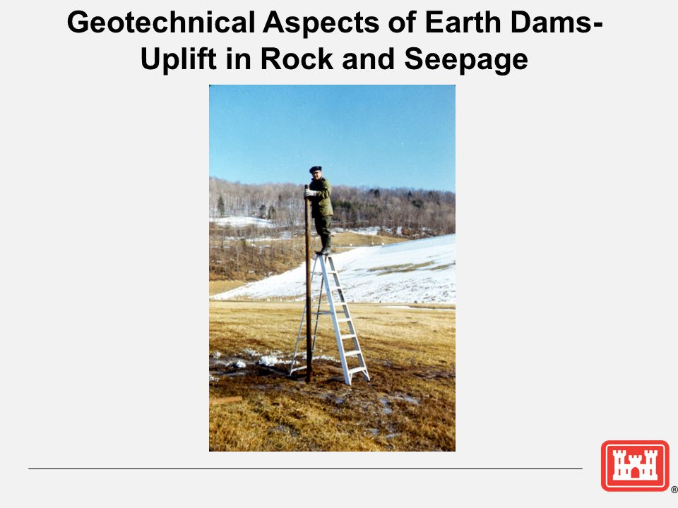 Geotechnical Aspects of Earth Dams- Uplift in Rock and Seepage