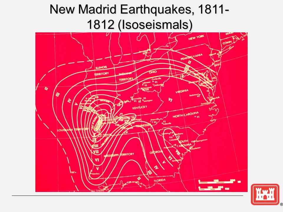 New Madrid Earthquakes, 1811-1812 (Isoseismals)