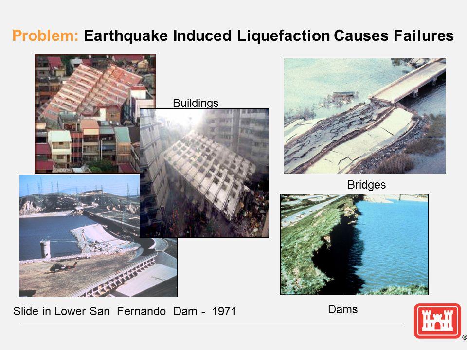 Problem: Earthquake Induced Liquefaction Causes Failures