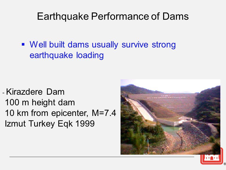 Earthquake Performance of Dams
