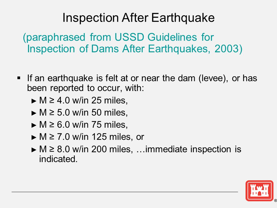 Inspection After Earthquake