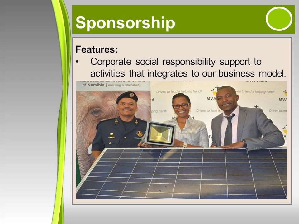 Sponsorship Features: