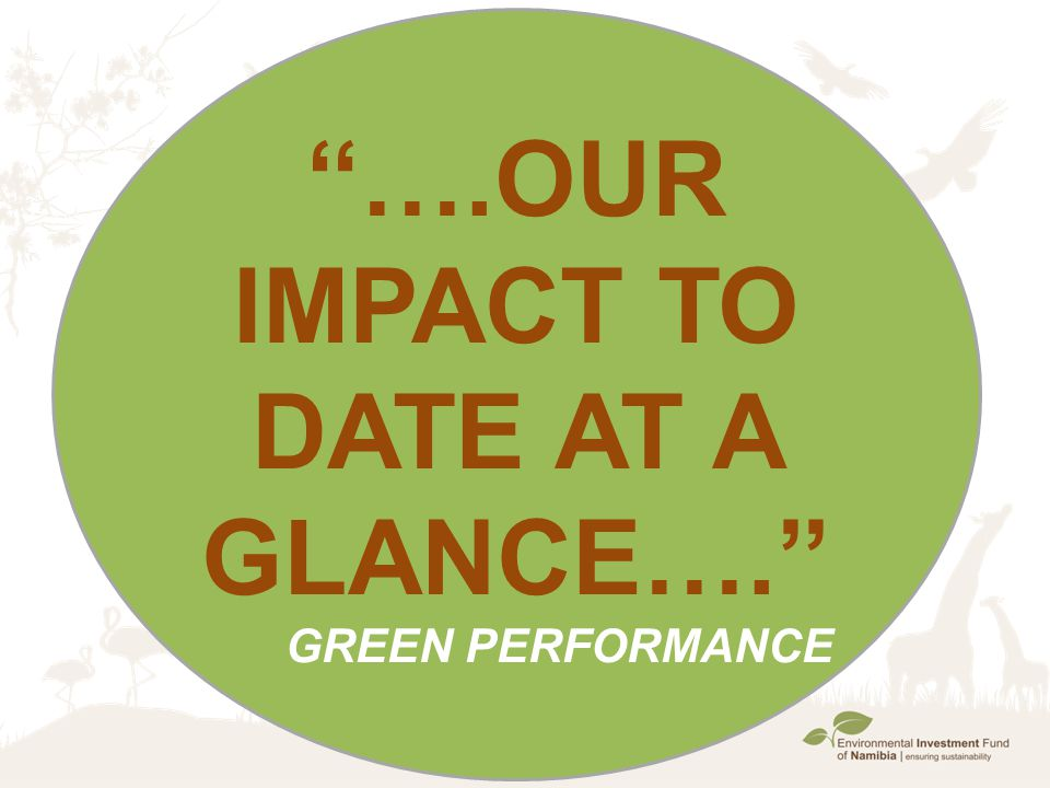 ''….Our Impact to date at a glance….''