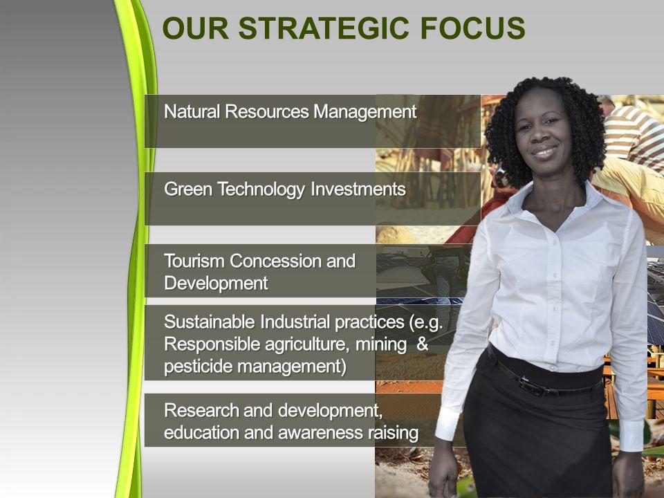 Our Strategic focus Natural Resources Management