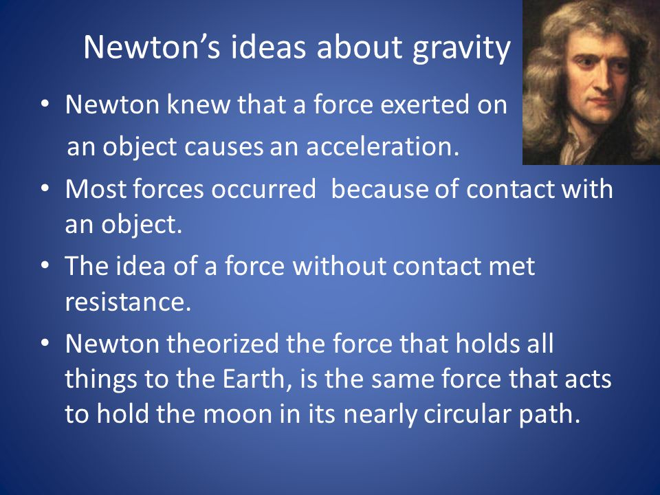 Newton's ideas about gravity