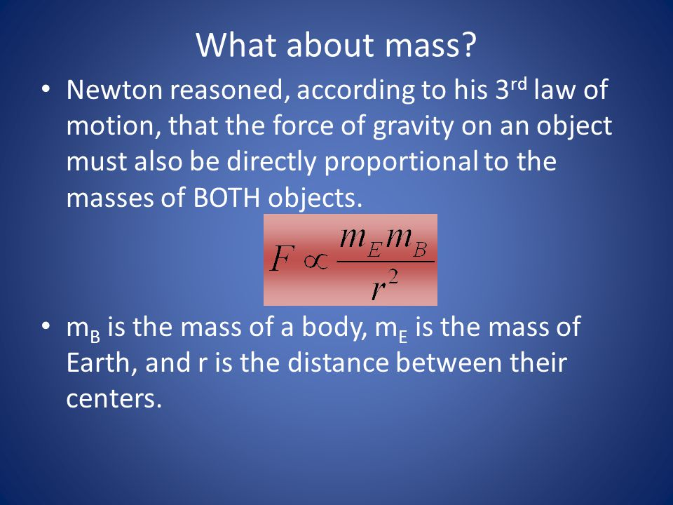 What about mass