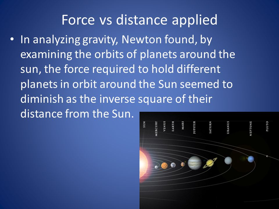 Force vs distance applied