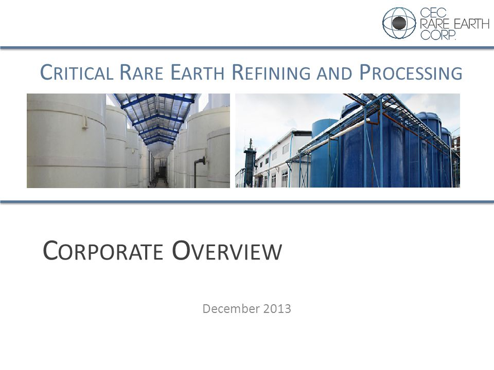 Corporate Overview December 2013