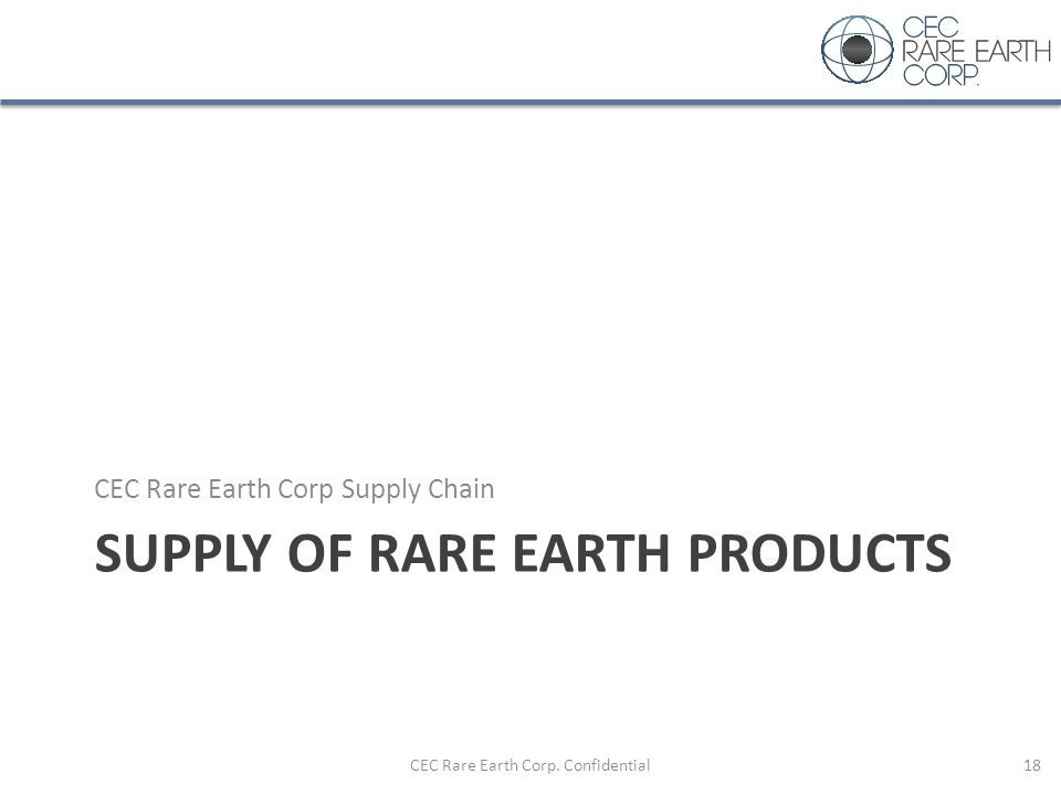 Supply of Rare Earth Products