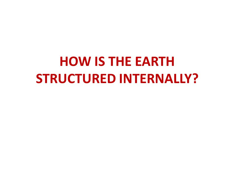 STRUCTURED INTERNALLY