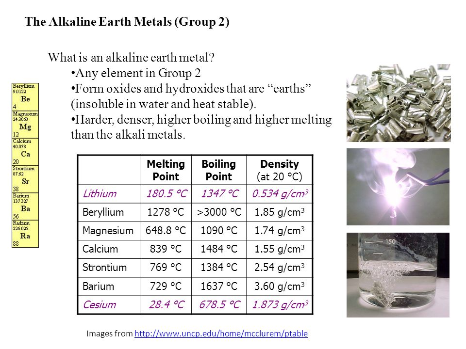 Alkaline Earth Metals Examples