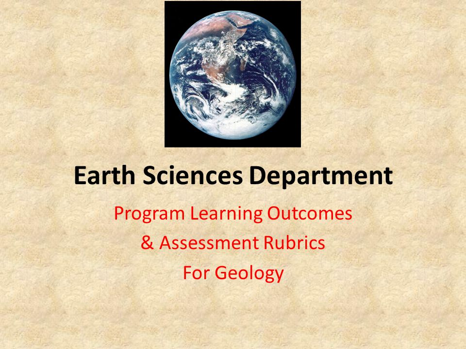 Earth Sciences Department