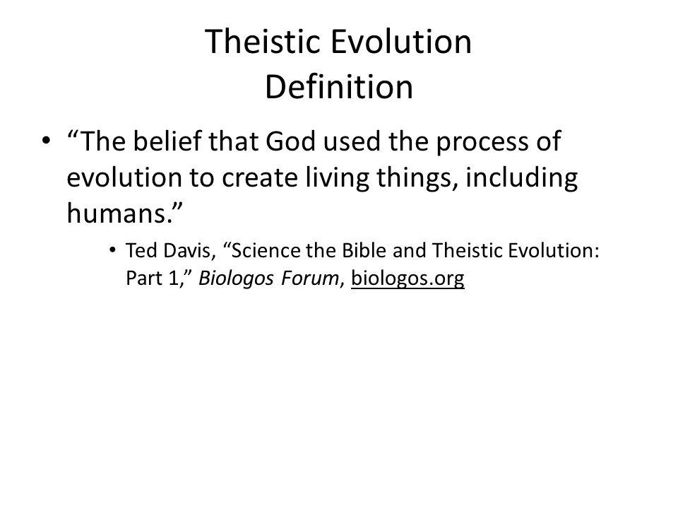 Theistic Evolution Definition