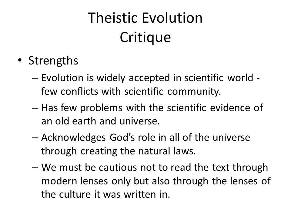 Theistic Evolution Critique