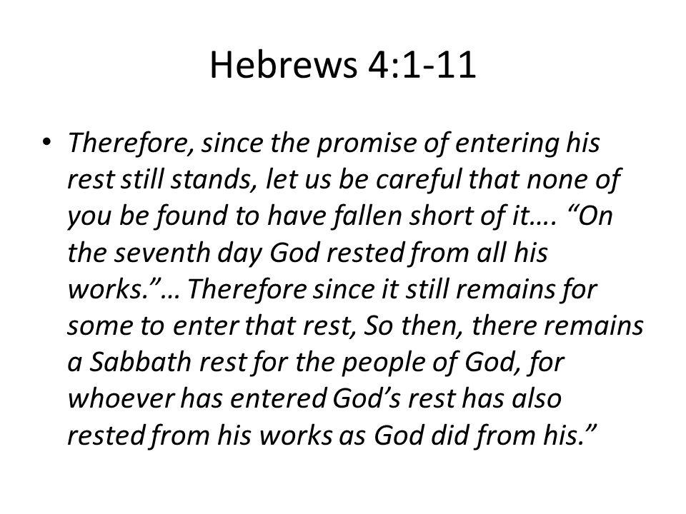 Hebrews 4:1-11