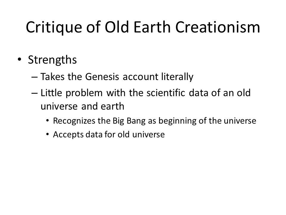 Critique of Old Earth Creationism