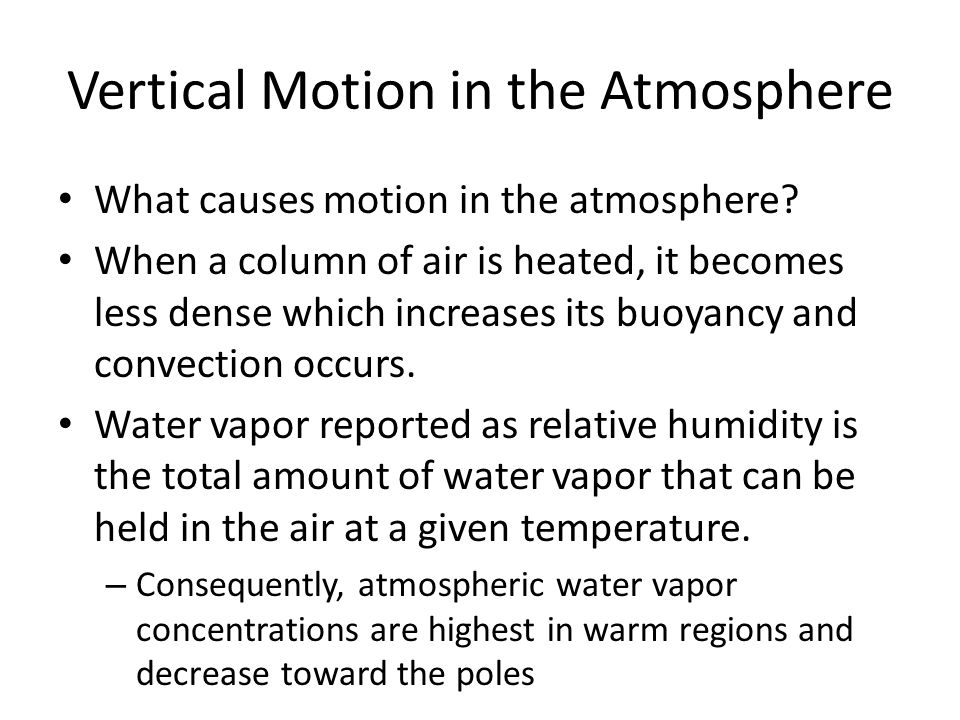 Vertical Motion in the Atmosphere