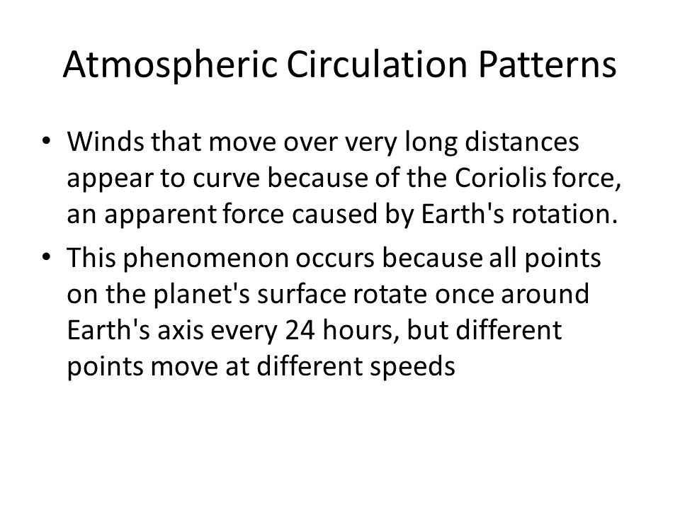 Atmospheric Circulation Patterns