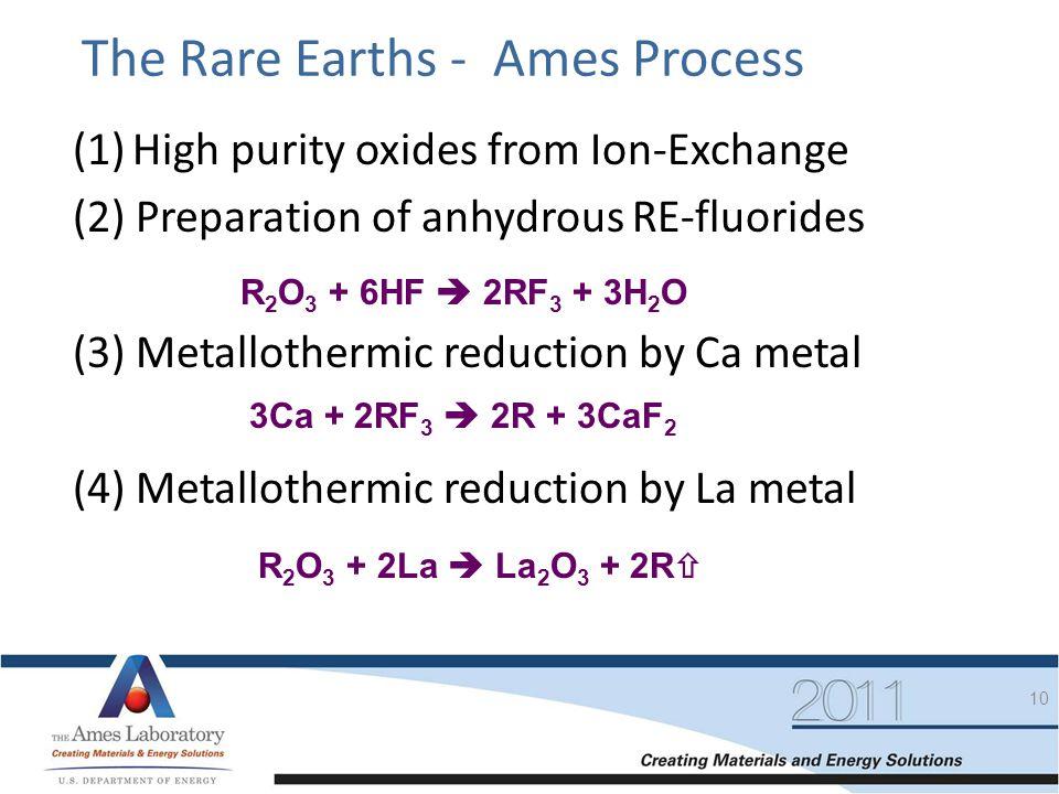 The Rare Earths - Ames Process