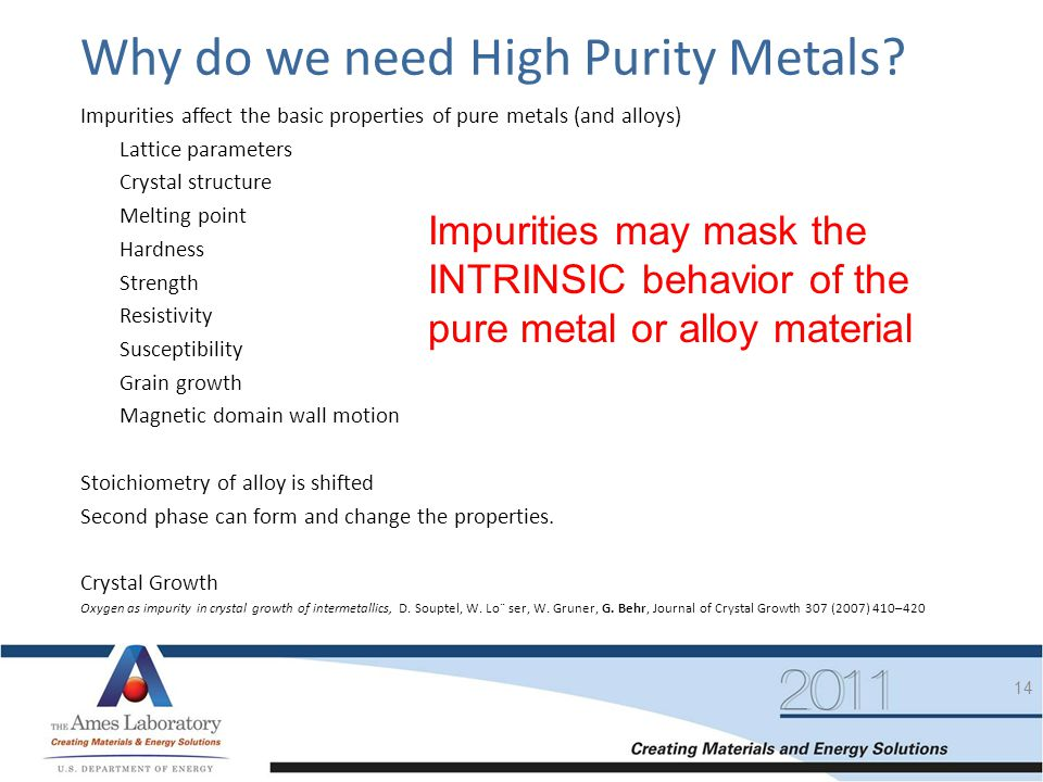 Why do we need High Purity Metals