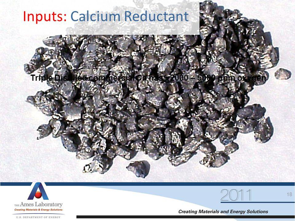 Inputs: Calcium Reductant