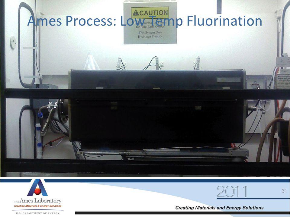 Ames Process: Low Temp Fluorination